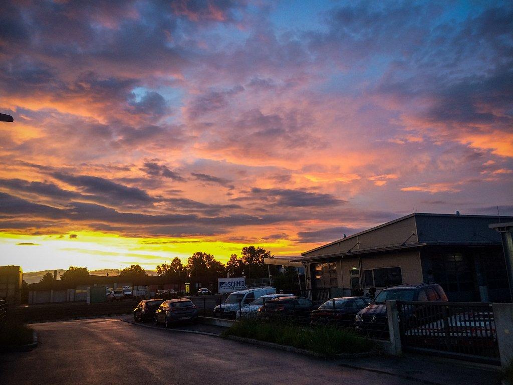 Sonnenuntergang, Pfingsten 2017